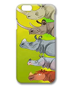 iphone 6 case¡ê? PERFECT PATTERN Flexible Slim Case Cover for Apple iPhone 6 (4.7 screen),Rhinocerotidae