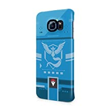 Pokemon GO Team Mystic Themed Pokedex Hard Plastic Snap-On Case Cover For Samsung Galaxy S6 Edge
