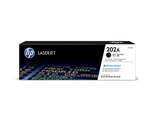HP 202A (CF500A) Black Toner Cartridge  for HP LaserJet Pro M254 M281cdw M281dw (Best Soho Laser Printer)