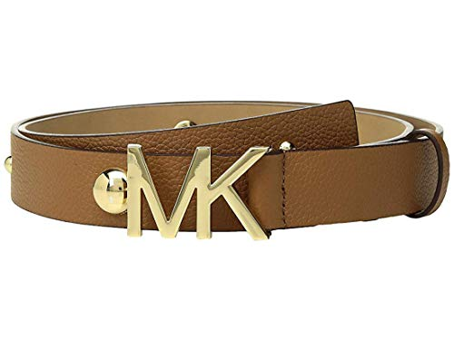 Studded Belt Kors Michael - Michael Kors Womens Studded Pebble Leather Belt (Brown, S)