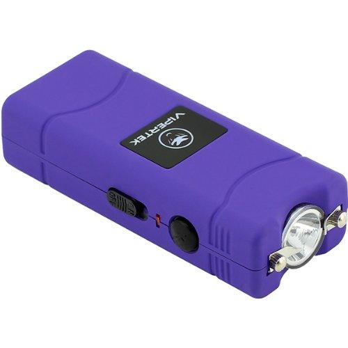 VIPERTEK VTS-881-28,000,000 V Micro Stun Gun - Rechargeable with LED Flashlight (Purple)