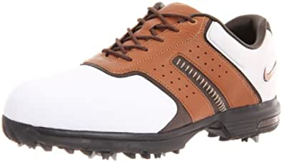 2011 Nike Men's Air Tour Saddle II Golf Shoes (Medium) (9.5 D(M), White/Brown/Bronze)