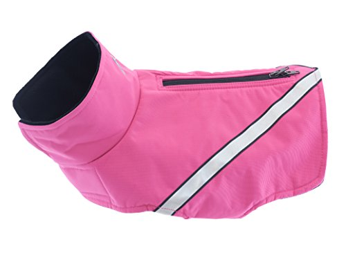 RC Pet Products Whistler Zip Line Version 2.0, Water-Resistant, Fleece Lined, Reflective Dog Coat, Size 26, Raspberry