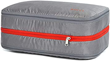 便利旅行圧縮バッグ トラベルポーチ 大容量15L ファスナーで簡単圧縮で衣類スペース50%節約 乾湿分離 便利グッズ