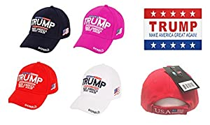 Trump with American Flag Baesball Cap