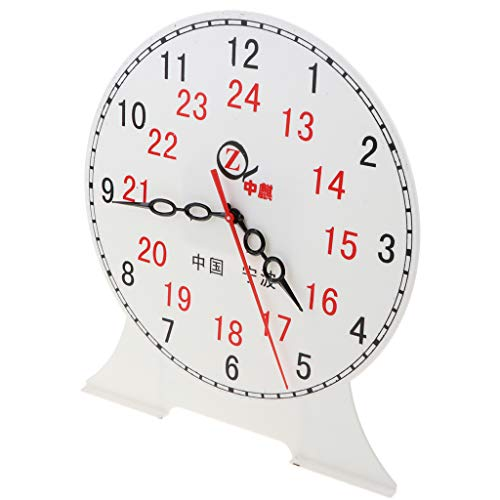 B Blesiya Student Teaching Time Clocks Teacher Gear Clock Preschool Learning Time Toy - 24 Hour Clock