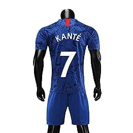 HJM N'Golo Kante #7 Jersey Soccer Masculin Set-Respirant, Séchage Rapide
