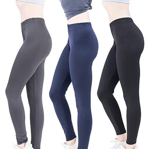 - 5050 Ultra Soft Full Length Lightweight Classic Leggings (Black, Gray, Navy, Median/Large)
