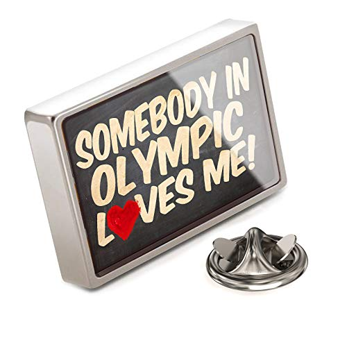 (NEONBLOND Lapel Pin Somebody in Olympic Loves me, Washington, National Park)