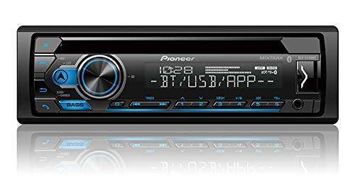 Pioneer DEH-S4100BT CD Receiver with Improved Smart Sync App Compatibility/MIXTRAX/Built-in Bluetooth (Best Bluetooth Cd Player For Car)