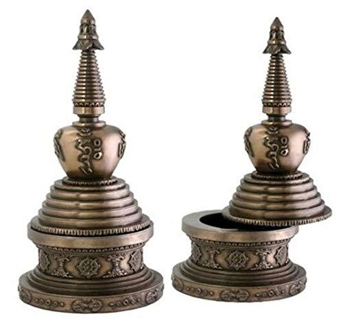 Ky & Co YesKela Round Stupa Box Jewelry Holder Buddha Shrine Decoration Collectible ()