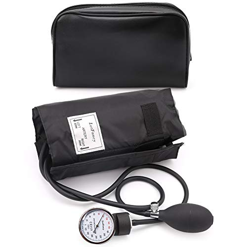 Aneroid Sphygmomanometer Blood Pressure Gauge - LotFancy Manual Blood Pressure Cuff with Zipper Case, Calibration for Accurate Readings, Adult Size Cuff (10-16 Inches) ()