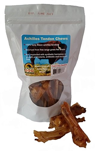 Great Dog Bison Achilles Tendon Chews 3/4 LB Bag (Sourced & Made in USA) For Sale