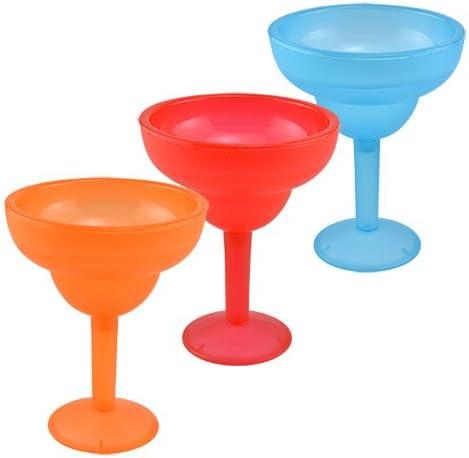 Juego de 3 colores brillantes copas de Margarita de plástico, apta ...