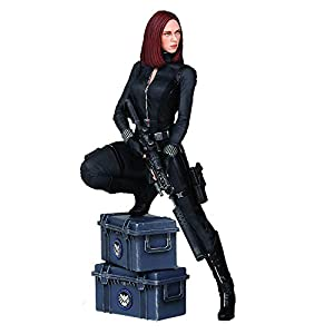 41T1viSEdKL. SS300 Captain America The Winter Soldier Black Widow 9-Inch Statue