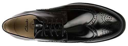 uomo Nero Clarks Scarpe Leather Derby lacci Black Limit con Gatley wY4qSwv