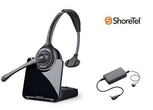ShoreTel Compatible Plantronics CS510 VoIP Wireless Headset Bundle with Electronic Remote Answer|End and Ring Alert (EHS) for ShoreTel 100 212 230 230G 265 420 530 560 560G 565 ()