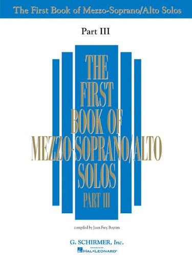 First Book of Mezzo-Soprano Solos - Part III PDF