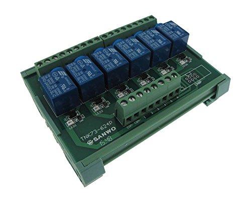 6canales 5VDC relé tablero PLC carril DIN Montaje ánodo común–NPN F