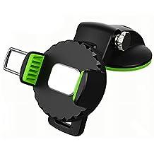 Car Mount Holder Okayda Universal Dashboard Windshield Suction Cup 360¡ãFree Ratation Adjustable Car Cradle Mount for Most Smartphone Green