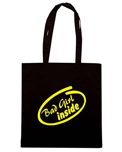 T-Shirtshock - Bolsa para la compra FUN0389 811 bad girl inside decal 53747 Negro