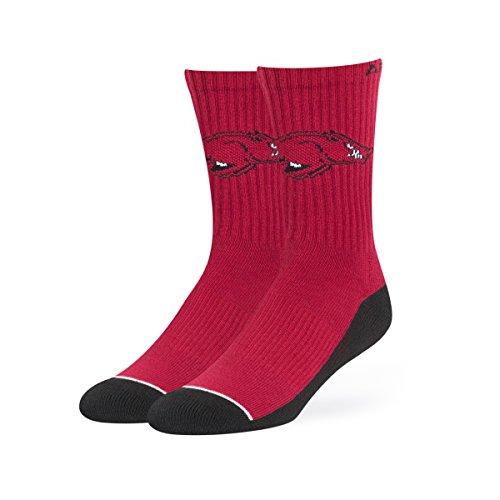 NCAA Arkansas Razorbacks OTS Anthem Sport Sock, Dark Red, Large (Arkansas Razorbacks Nfl)