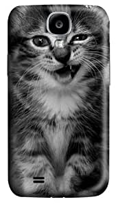 Samsung Galaxy I9500 Case, Samsung Galaxy I9500 Cases -kitten funny PC Hard Plastic Case for Samsung Galaxy I9500/S4 3D