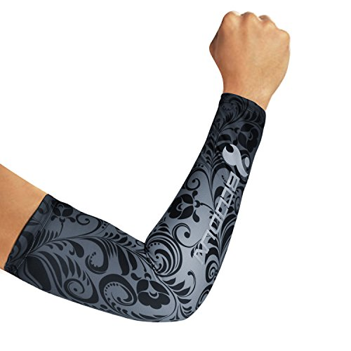 Vine Night Light - BOODUN UV Protection Cycling Sleeves Unisex Sports Compression Cooling Arm Cover Sleeves (Vine, M)