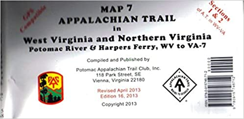 Harpers Ferry Virginia Map.Map 7 Appalachian Trail In West Virginia And Northern Virginia