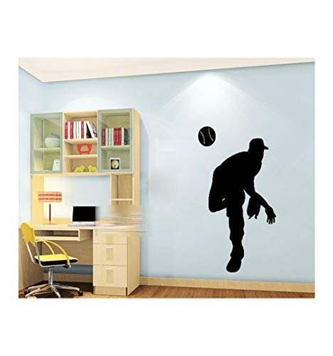 Dailinming PVC Wall Stickers Baseball pitcher silhouette personalized children