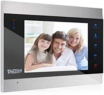TMEZON Wireless Doorbell WiFi IP Door Phone Intercom Entry System 7/'/' Monitor