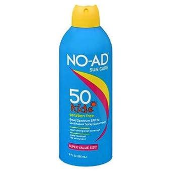 NO-AD SPF 50 Kids Continuous Spray 3 Bottles Sun Care