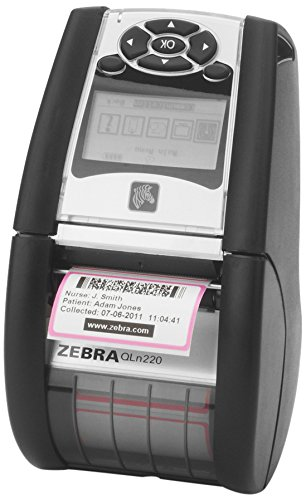 Zebra QN2-AUNA0M00-00 QLN 220 Direct Thermal Mobile Label Printer, Bluetooth and Wi-Fi, Monochrome, 203 dpi, 2.75