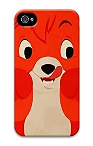 3D Hard Plastic Case for iPhone 6 4.7 4G,Cute Red Fox Case Back Cover for iPhone 6 4.7