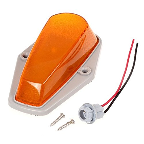 Partsam 5X Cab Roof Top Marker Light Amber Cover w basing House+T10 Socket Wiring Harness Replacement for 1973-1997 Ford F150 F250 F350 F Pickup Trucks