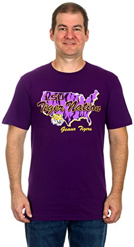 LSU Tiger Nation Men's Short Sleeve T-Shirt (X-Large)