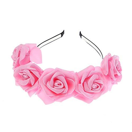 UROSA Boho Ladies Floral Flower Festival Wedding Garland Hair Head Band Beach Party Headwear]()