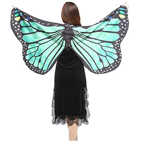 iQKA Butterfly Wings Shawl Cape Scarf Fabric Dance