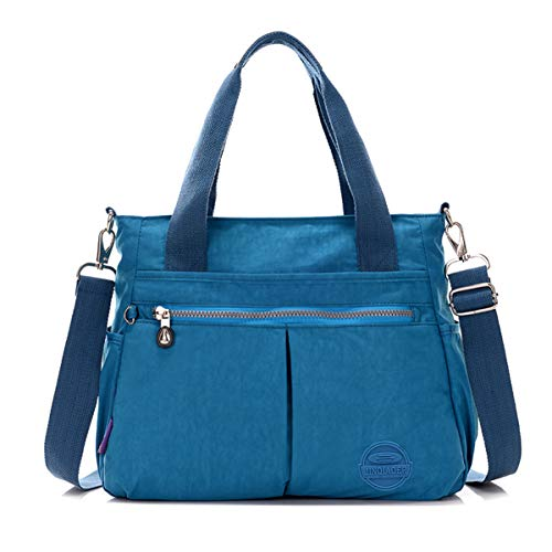 Resistant Crossbody Blue Strap Ocean Handbag Shoulder Nylon Bag Water Tote Tiny Chou Messenger Detachable With Y4wE1a6qxW