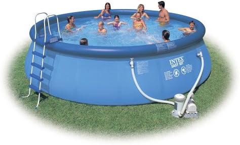 Intex Juego de piscina completo 457 x 122 cm, con escaleras, etc ...