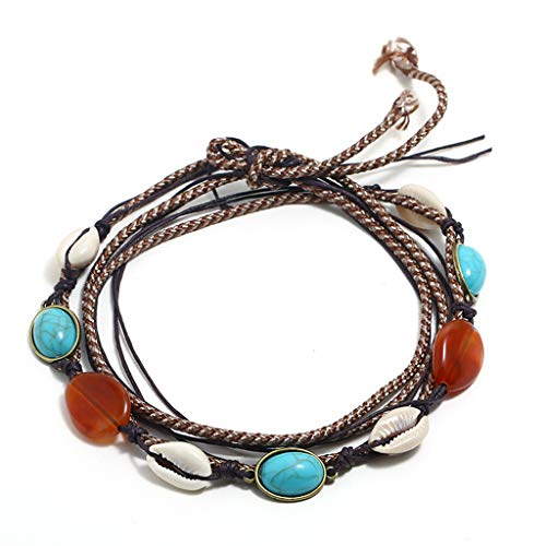 Bohemian Necklace Retro Inlaid Turquoise National Style Necklace Ladies ()