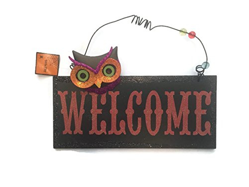 Cute Frat Halloween Costumes (Wooden Welcome Glitter Halloween Sign Decoration)