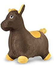 Chromo Bouncy Hopping Toy, Ride On Animal Hopper, Cute Animal Inflatable Jumper, Washable Plush Cover, Pump Included, Activity Gift for 2-5 Year Old Kids Toddlers Boys Girls