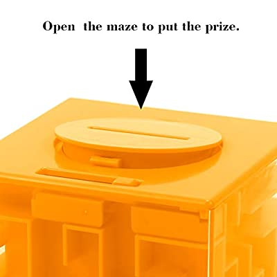 Money Maze Puzzle Box, Twister.CK Money Holder Puzzle for Kids and Adults Birthday (Orange): Toys & Games