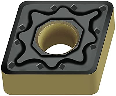 "Walter Tools CNMG120416-NM4 WSM20 Carbide Tiger-Tec Negative Indexable Turning Insert, 1/16"" Corner Radius, 1/2"" IC, 3/16"" Thick, 0.039"" - 0.157"" Depth of Cut (Pack of 10)"