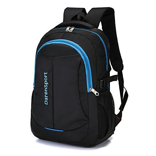 Travel Outdoor Computer Backpack Laptop bag big (blue) - 9