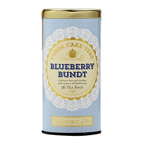 The Republic Of Tea Blueberry Bundt Cuppa Cake Tea, 36 Tea - Blueberry Wild Tea Black