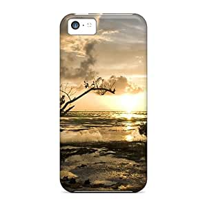 New Style 5c Protective Cases Covers/ Iphone Cases - Glorious Sunrise On A Budding Tree