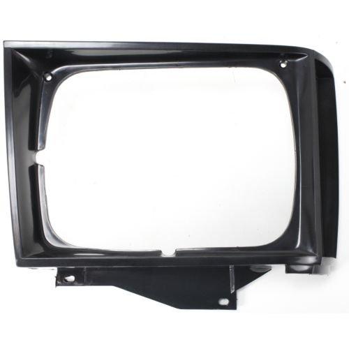 QP G0729-c GMC Jimmy Black Passenger Headlight Door Grille