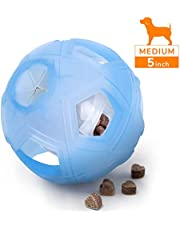 """LumoLeaf Dog Treat Ball, 5"""" Interactive IQ Treat Dispensing Ball Toy with Adjustable Difficulty Setting for Small to Medium Dogs and Cats"""